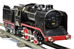 Old model railway Royalty Free Stock Photo
