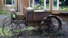 An old model t tractor on display in alaska. A picture taken of a vehicle used for farming as seen at chena hot springs Stock Photo