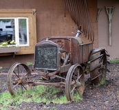 An old model t tractor. A picture of an old-fashioned farm vehicle on display at chena, alaska Royalty Free Stock Photos