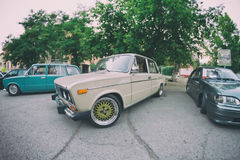 The old model VAZ-2106 with modern accessories Royalty Free Stock Photos