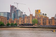 Old and modern architecture at River Thames in London UK Royalty Free Stock Photos