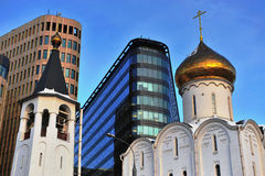 Old and modern architecture of Moscow Stock Photos