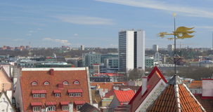 Old And Modern Architecture Of Tallinn stock video footage