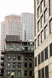 Old and Modern Boston Buildings. Classic old stone and modern high rise buildings in Boston, Massachussets Stock Photos
