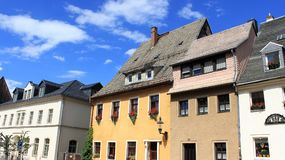 Old And Modern Building Local Style. Old town old and modern  building local style  in Freiberg Germany Stock Photo