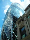 Old and new buildings in London City royalty free stock photo