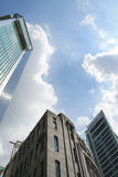 Old and modern building with sky. In Malaysia Asia Royalty Free Stock Photos