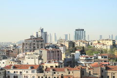 Old and modern buildings of Istanbul Stock Photo
