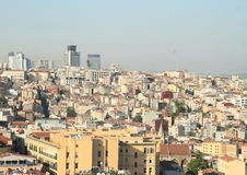 Old and modern buildings of Istanbul. Old and modern buildings - panorama of Istanbul city with skyscrapers, Turkey Royalty Free Stock Photos