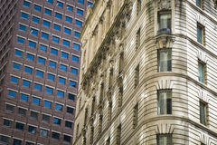 Old and modern buildings in New York City Stock Images