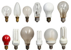 Old and modern bulbs Royalty Free Stock Photos