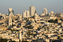 Old and modern Jerusalem in Israel Royalty Free Stock Photography