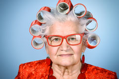 Old modern lady Royalty Free Stock Photo