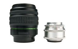 Old and modern lenses Royalty Free Stock Image