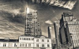 Old and modern skyline of New York City on a sunny autumn day Royalty Free Stock Photography
