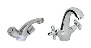 Old with modern stainless steel tap Stock Photography