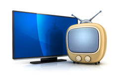 Old and modern TV Royalty Free Stock Photography
