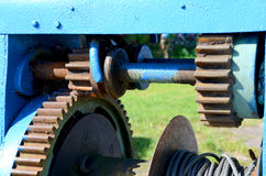 Old modes and gears in Masuria. Stock Photo