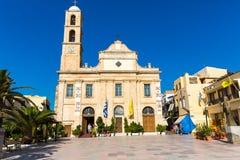 Old monastery Arkadi in Greece, Chania, Crete. Greek travel royalty free stock photography