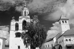 Old monastery. Black and white photo. Stock Photography