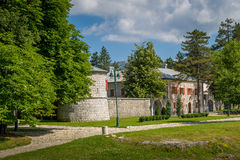 Old monastery buildings in Cetinje, Montenegro Stock Images