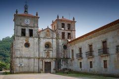 Cornellana, Camino de Santiago, Spain. Old monastery of Cornellana, landmark on the Camino de Santiago trail between Grado and Salas, Asturias, Spain stock image