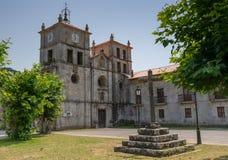 Cornellana, Camino de Santiago, Spain. Old monastery of Cornellana, landmark on the Camino de Santiago trail between Grado and Salas, Asturias, Spain royalty free stock images