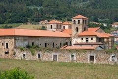 Cornellana, Camino de Santiago, Spain. Old monastery of Cornellana, landmark on the Camino de Santiago trail between Grado and Salas, Asturias, Spain royalty free stock photos