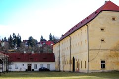 Old monastery courtyard in Prague Stock Photography