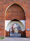 Old Monastery Gate, Torun, Poland Stock Photo