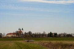 Old monastery in Hebdów Royalty Free Stock Photography