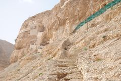 Old monastery in Jericho stock photo