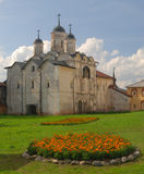 Old monastery in Kirillov stock photography