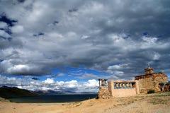 Old monastery at Lake Manansovar Royalty Free Stock Photography