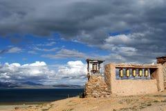 Old monastery at Lake Manansovar Stock Photo