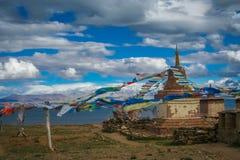 Old monastery at Lake Manasarovar Royalty Free Stock Photography