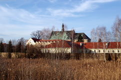 Old monastery in Lutomiersk Stock Photography