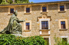Old monastery in Mallorca. The Santuari de Lluc is a monastery and pilgrimage site located in the municipality of Escorca in north west Majorca Stock Photos
