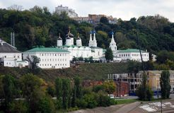 Old monastery in Nizhny Novgorod, Russia. Stock Images