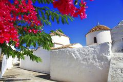 Greeck churches and monasteries - Monastery of Saint John the Theologian in Patmos royalty free stock photos
