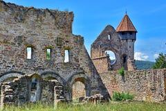 Old Monastery Romania. Old cistercian monastery in Carta village, Transylvania, Romania stock photo