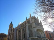 Church and old monastery of San Jerónimo el Real, in Madrid, Spain. The old monastery of San Jerónimo el Real, popularly known as `Los Jerónimos`, was stock image
