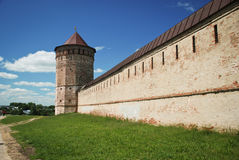 Old monastery wall, Russia. Old monastery wall, Golden Ring of Russia royalty free stock images