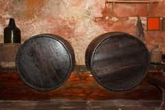 An old monastery wine cellar Stock Images