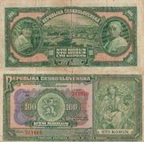 Old money - Czech 100 Stock Photos