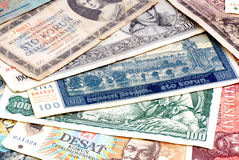 Old money Czechoslovak (Czech). Royalty Free Stock Photography