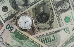 Old money New Money, USD, Time Value Stock Image