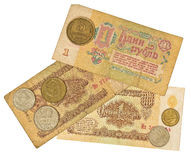 Old money of Soviet Union. Stock Photo