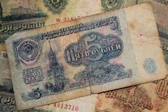 Old money USSR Stock Image
