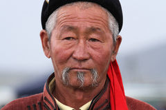 Old mongolian man Royalty Free Stock Images